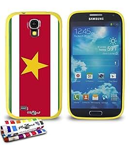 Carcasa Flexible Ultra-Slim SAMSUNG I9500 / GALAXY S4 de exclusivo motivo [Bandera Suriname] [Amarillo] de MUZZANO  + ESTILETE y PAÑO MUZZANO REGALADOS - La Protección Antigolpes ULTIMA, ELEGANTE Y DURADERA para su SAMSUNG I9500 / GALAXY S4