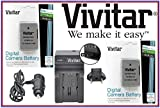 Hi Cap Vivitar 2-Pcs 2300 mAh EN-EL14a Li-Ion Battery & Quick Charger For Nikon