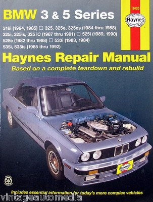 1982-1992 Haynes Repair Manual - BMW 3 & 5 Series - #18020 ()