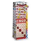 Epic 43-830 Bingo Bottle Gift Bag Red White & Yellow Card Artwork Cord Handles