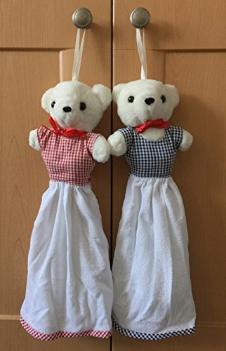 ed Plush Teddy Bear Hand Drying Towel for Bathroom and Kitchen (Soft Teddy Bear Terry)