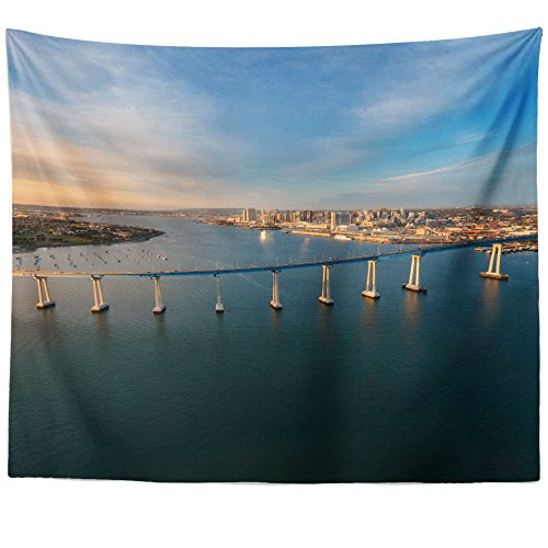 (Westlake Art - Downtown Bridge - Wall Hanging Tapestry - Picture Photography Artwork Home Decor Living Room - 68x80 Inch (3B05A))