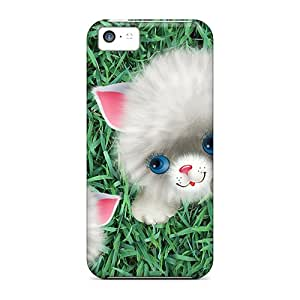 CaroleSignorile QJk23032fUIZ Cases For Iphone 5c With Nice Cat Kitty Appearance