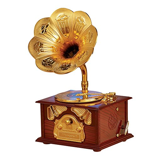 Collections Etc Old Fashioned Gramophone Music Box (Lighted Music Box)
