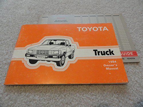 1984 Toyota Pickup Truck owners manual