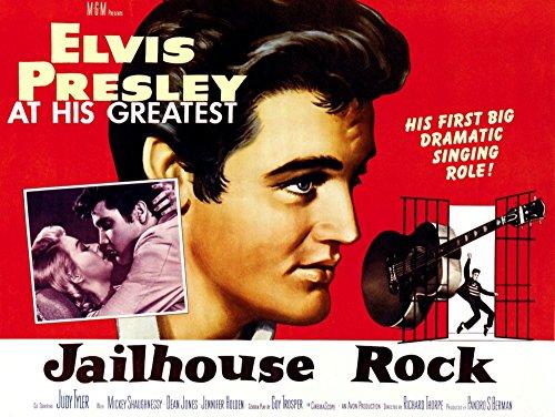 - Posterazzi EVCMSDJAROEC003H Jailhouse Rock Elvis Presley 1957 Movie Poster Masterprint 14 x 11