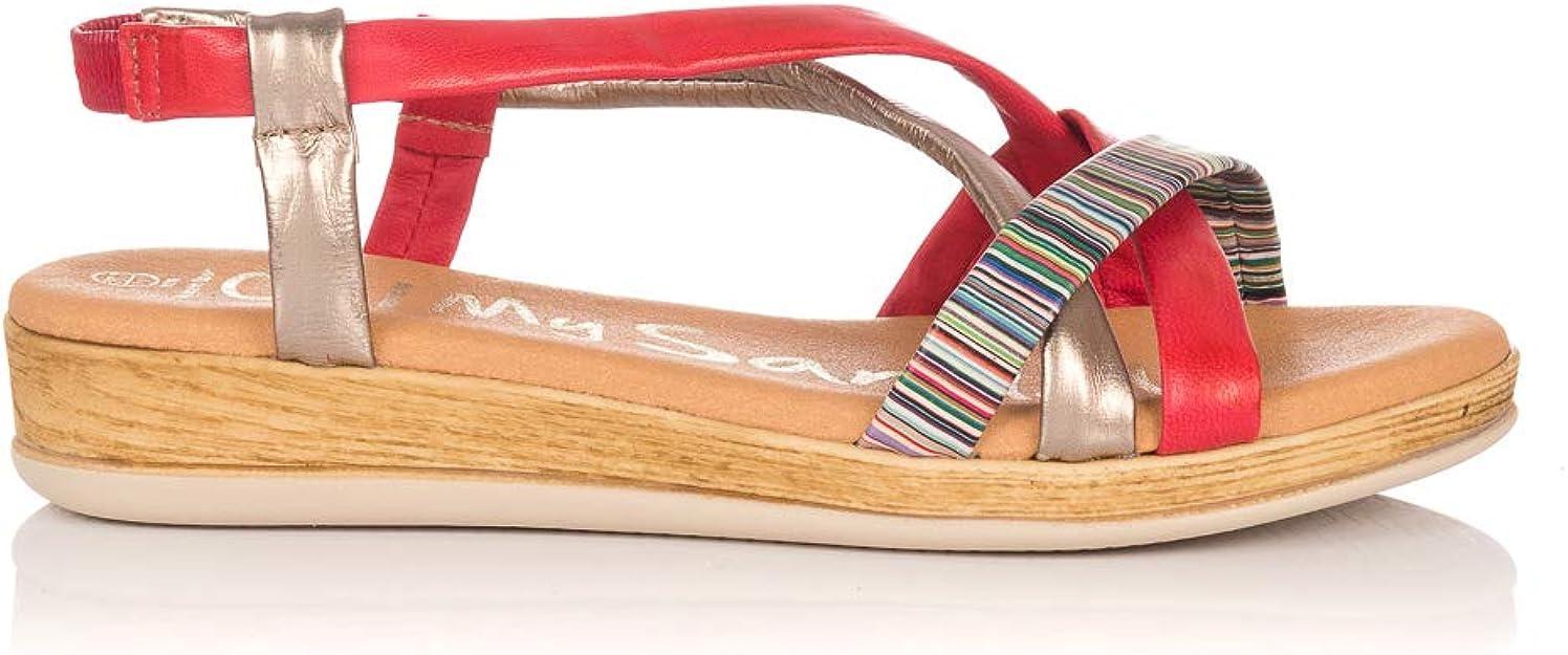 OH MY SANDALS 4331 Sandalia TUBULARES Piel Mujer Rojo 41: Amazon.es: Zapatos y complementos