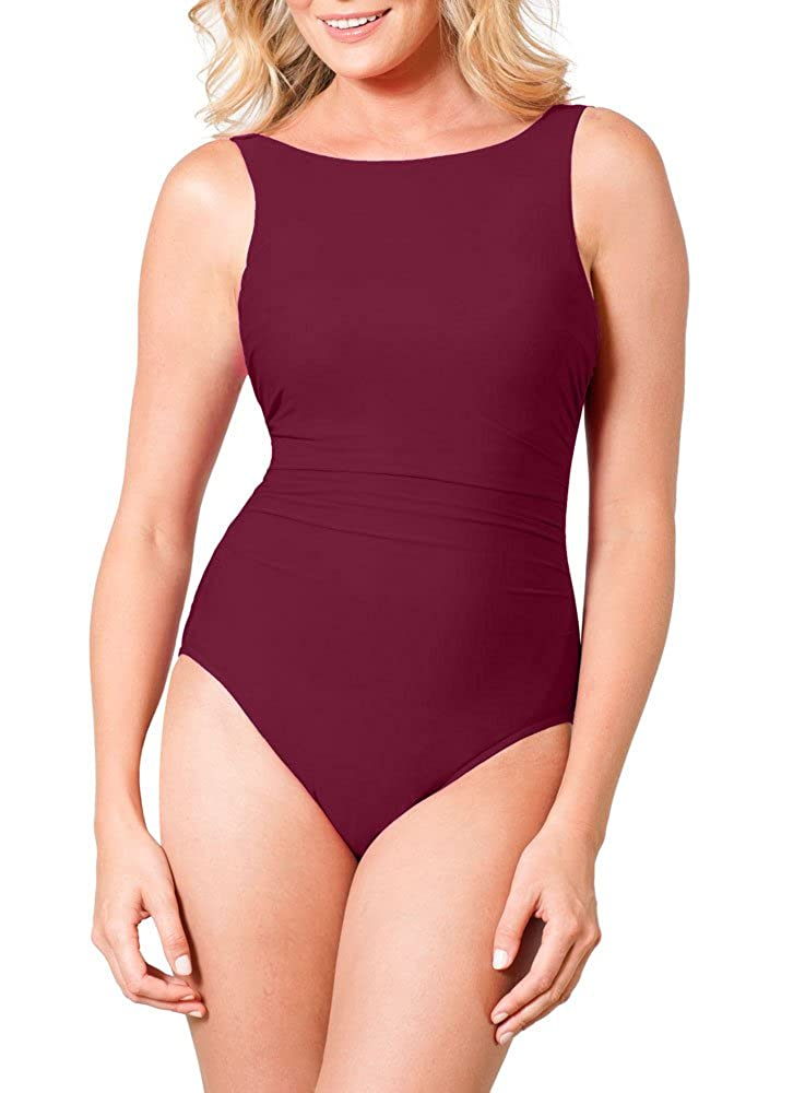 2b0258ccd0a55 Miraclesuit DD-Cup Solid Regatta Underwire One Piece Swimsuit at Amazon  Women's Clothing store:
