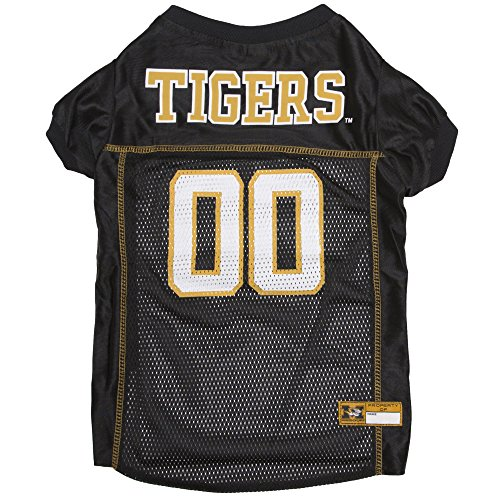 Pets First Collegiate Missouri Tigers Dog Mesh Jersey, X-Large