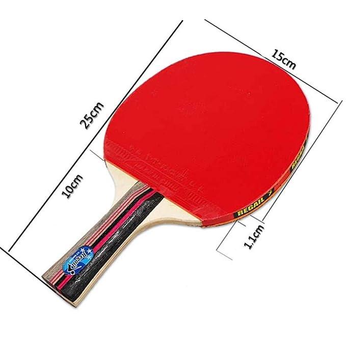 RONGJJPP Profesional Pala De Ping Pong 2 Raquetas Tenis De Mesa ...