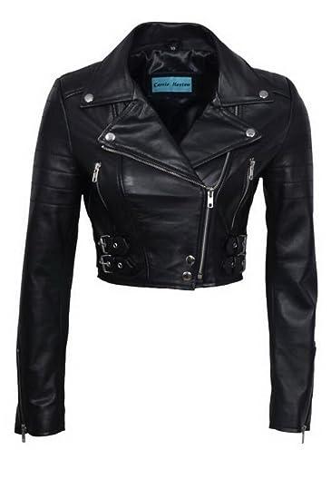 big clearance sale sale retailer provide plenty of Infinity Women's Chic Black Cropped Leather Biker Jacket