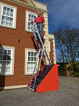 Beau 9 Rung 3 Section STAIR Combi All In One Extension Ladder, Step Ladder U0026  Free Standing Ladders By BPS Access Solutions
