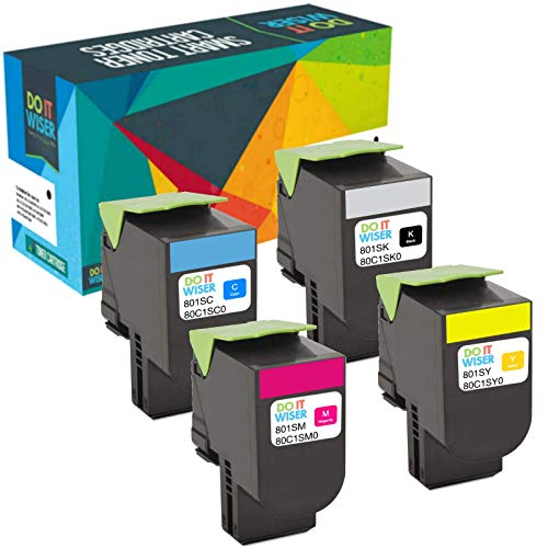 Lexmark Toner - Do it Wiser Compatible Toner for Lexmark CX310n CX310dn CX410de CX410dte CX410e CX510de CX510dthe CX510dhe - 4 Pack