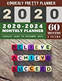 5 year monthly planner 2020-2024: 2020-2024