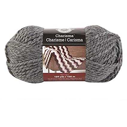 Amazon com: Loops and Threads Charisma Yarn 1 Ball Charcoal