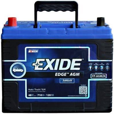 Exide Edge FP-AGM24 Flat Plate AGM Sealed Automotive Battery
