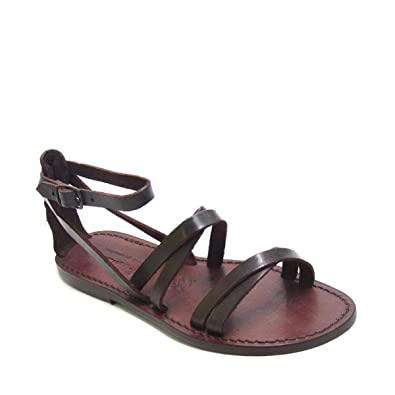 Size 9 US Handmade Womens Dark Brown Calf Leather Flat