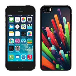 Beautiful Custom Designed Cover Case For iPhone 5C With 3D Colored Columns Phone Case Cover