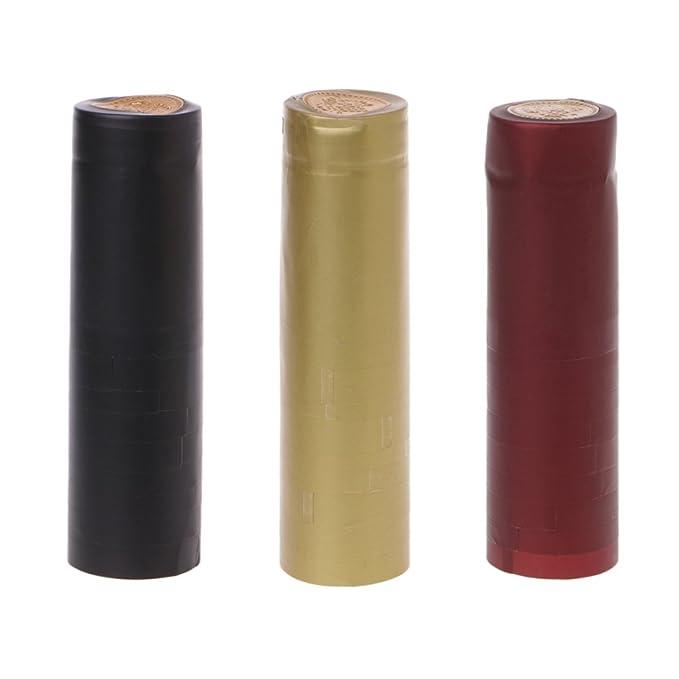 Compra Lamdoo 10 cápsulas termorretráctiles para Botella de Vino, capsulas Sueltas para la Parte Superior del hogar, fácil de pelar, PVC, Dorado, ...