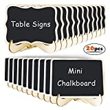 20 Pack Mini Chalkboards Signs with Support Easels, 2 Style Small Blackboards Message Board Signs, Food Label, Place Card, Table Numbers, Favor Tag for Weddings Parties and Event Decoration