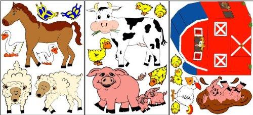 Farm Animal Wall Decals / Stickers (Presto Reusable compare prices)