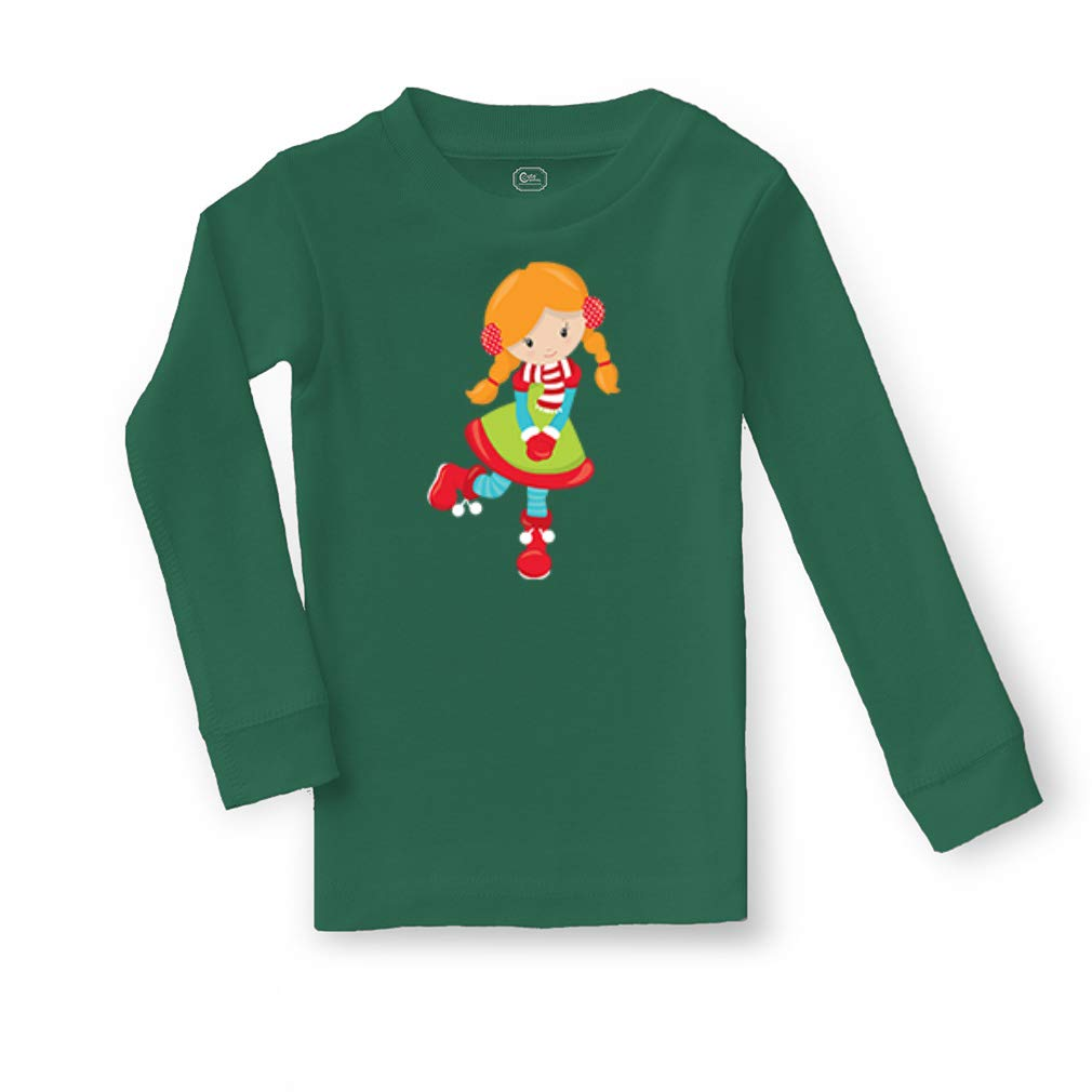 Christmas Girl Red Stands Cotton Boys-Girls Sleepwear Pajama 2 Pcs Set