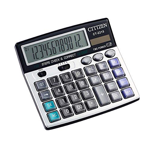 BALUZ 12-Digit Electronic Desktop Calculator,Simple Desk Calculators with Large LCD Display for Business Financial Scientific Office by BALUZ