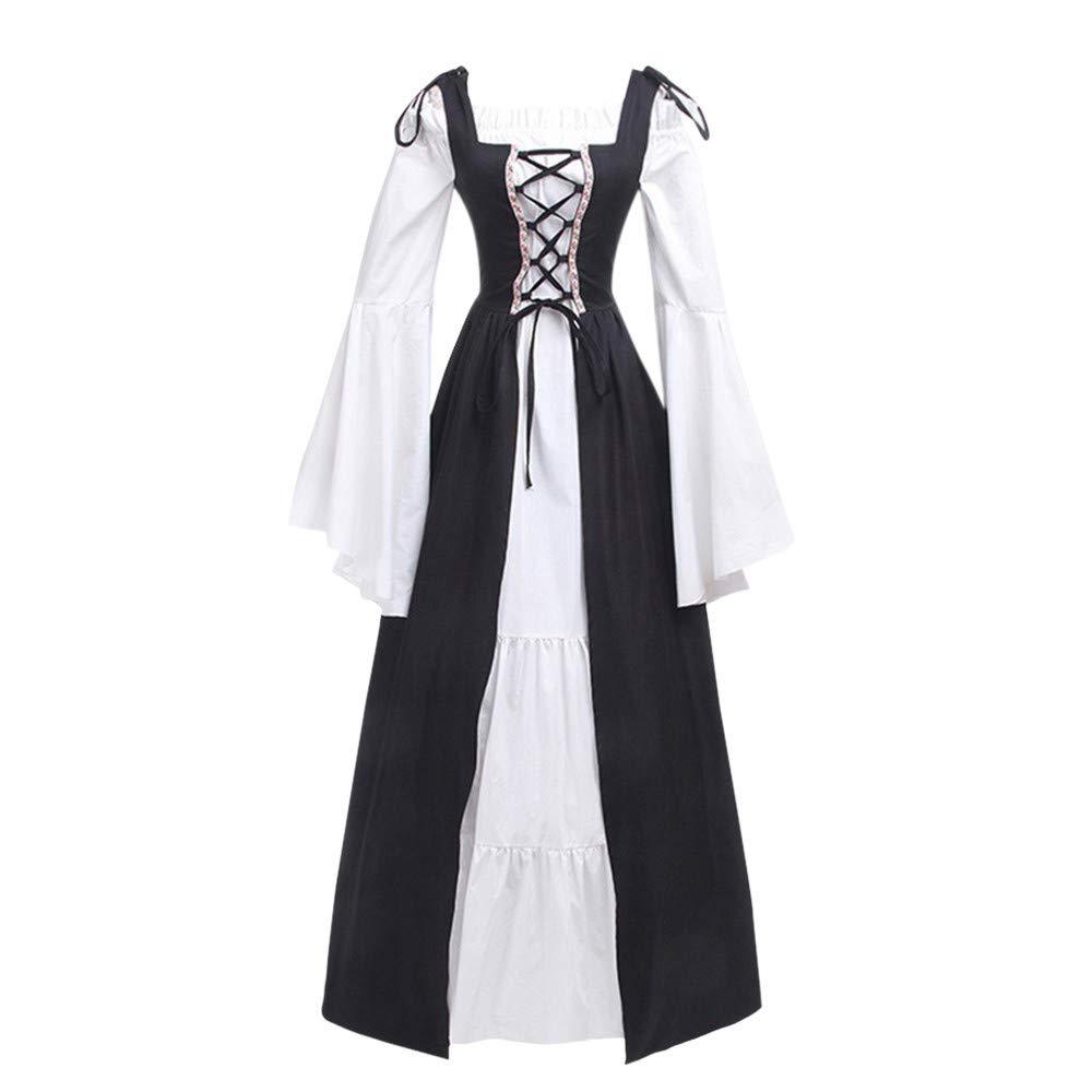 Tantisy /♣↭/♣ Womens Renaissance Vintage Party Club Elegante Dress ◈ Girl Bandage Corset Princess Sleeve Cosplay Dress
