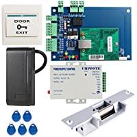 UHPPOTE DIY Full Complete Security Wiegand 26 Access Control Kit Including Strike Lock 3A Power Supply RFID Card Reader