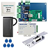 UHPPOTE DIY Full Complete Security Wiegand 26 Access Control Kit Including Strike Lock 3A Power Supplu ID RFID Card Reader