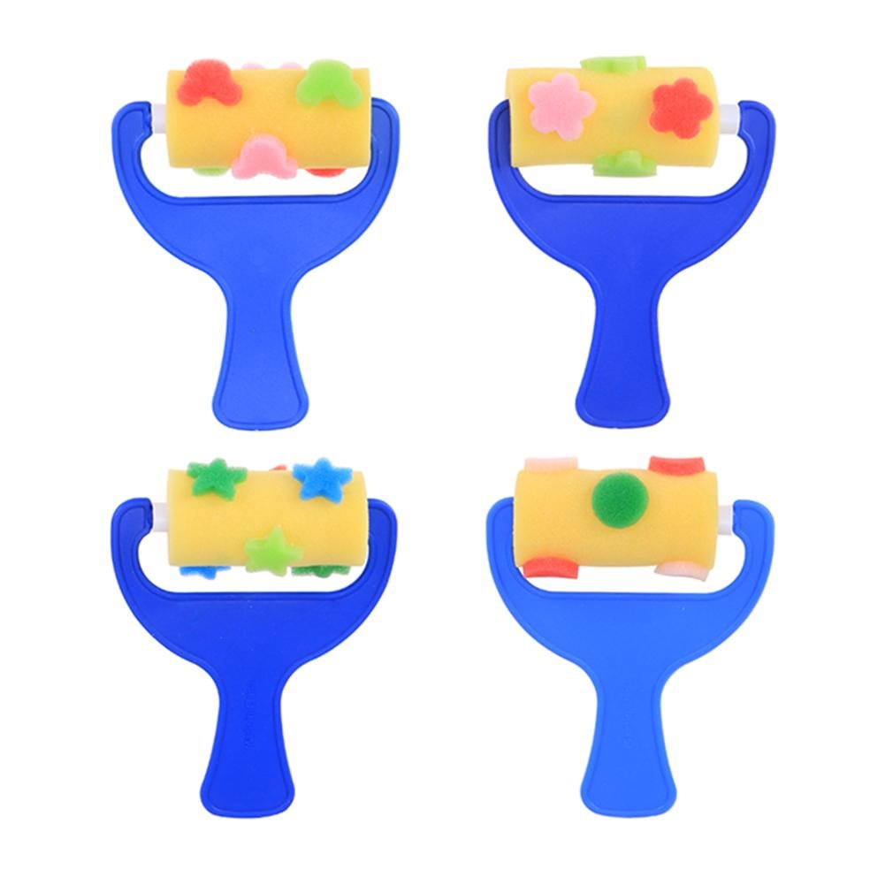 Whitelotous 3pcs/Set Sponge Painting Roller Brushes Art Drawing Kids Graffiti Toys Home Cleaning Accessories