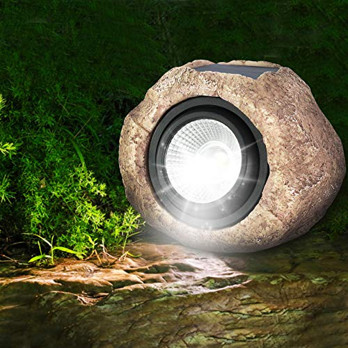 Outdoor Rock Lights Garden in US - 7