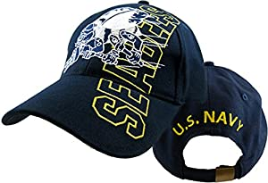 U.S. Navy Seabees Logo Cap,Navy Blue,One Size Fits Most