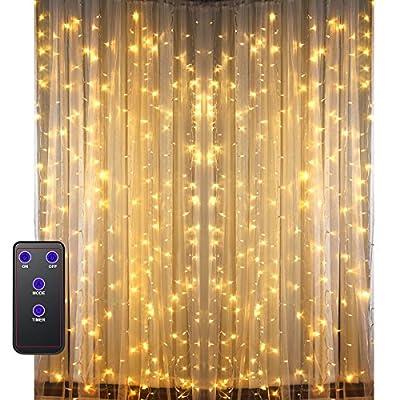 GDEALER 300Led Window Curtain Lights Warm White