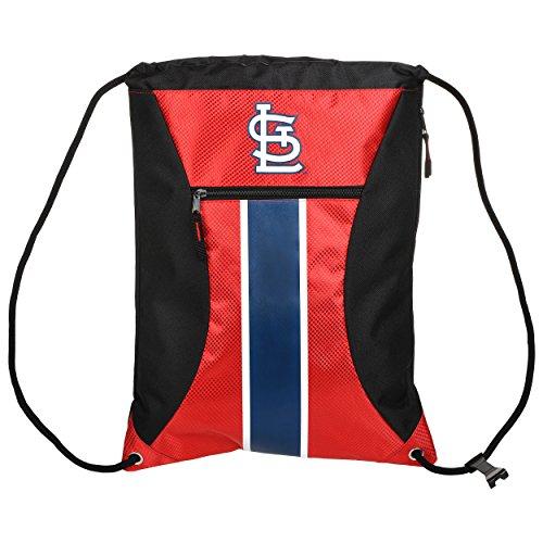 Louis Cardinals Bean Bag - St. Louis Cardinals Big Stripe Zipper Drawstring Backpack
