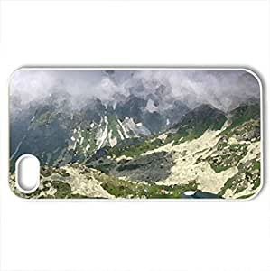Tatry - Poland - Case Cover for iPhone 4 and 4s (Mountains Series, Watercolor style, White)