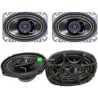 NEW KICKER DS46 4x6 100W 2 Way Car Speakers + KICKER DS693 6x9 280W Speakers