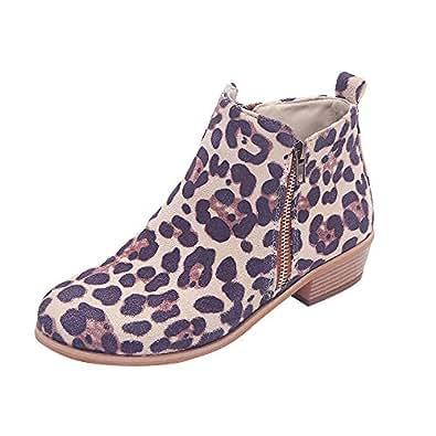 Botines Cortos De Tobillo De Mujer OHQ Botas Knight Ladies Botines De Ante Martin Botas De Cremallera: Amazon.es: Zapatos y complementos