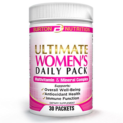 Ultimate Women's Daily Pack by Burton Nutrition – 30 Packets – Multivitamin and Mineral Complex – Supports Overall Well Being, Antioxidant Health, Immune Function For Sale