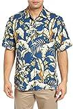Tommy Bahama Men's Big & Tall Blumenau Silk Hawaiian Camp Shirt (Bering Blue, 3XB)
