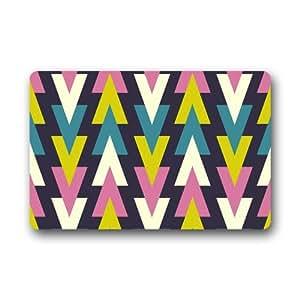 """Evergreen moda hogar Felpudo–-sin costuras retro geométrico patrón personalizado Felpudo lavable a máquina resistente puerta Pad 23.6""""(L) X 15,7(W)"""