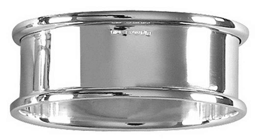 Silver Plain Oval Napkin Ring by Orton West