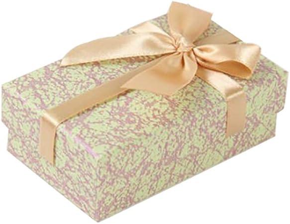WDILO - Caja de Regalo de cartón con Tapa Rectangular (1 Unidad), diseño de Lazo, tamaño pequeño, Verde Claro, 2.3 * 8.3cm: Amazon.es: Hogar