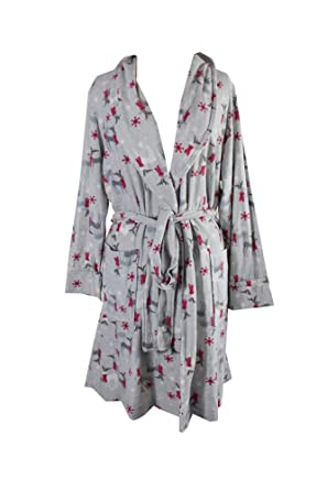b5223aa067 Image Unavailable. Image not available for. Color  Charter Club Womens Plus  Holiday Reindeer Short Robe ...