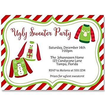 Ugly Christmas Sweater Party Invite.Ugly Sweater Party Invitations Tacky Sweater Invites With Chevron Stripes Holiday Christmas Party