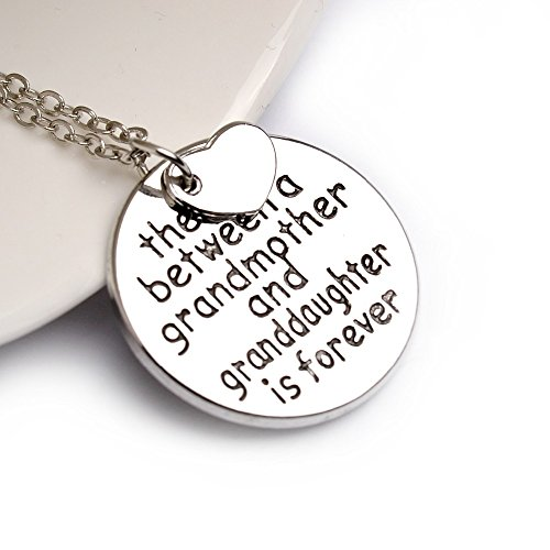 "Grandma Pendant Necklace ""The love between a grandmother and granddaughter is forever"""