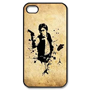 Qxhu Han Solo patterns Protective Snap On Hard Plastic Case for Iphone4,4S