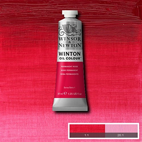 Winsor & Newton Winton Oil Paint Tube Artist Art 37ml & 200ml ALL COLOURS (Permanent Rose, (200 Ml Rose)