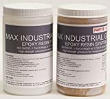 MAX INDUSTRIAL GRADE Thixotropic Epoxy Resin System - 1/2 Gallon Kit - Structural Adhesive, High Strength Bonding, Marine Grade, FDA Compliant Adhesive, Waterproof, Vertical Application