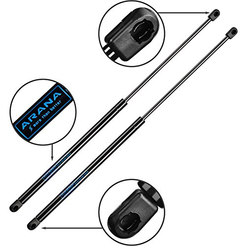 - Rear Glass Struts Compatible with 1997-2006 Jeep Wrangler Shocks - Rear Glass WINDOW Hatch - Gas Charged Lift Supports (Pair / 2pc)